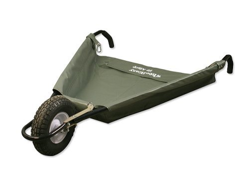 "Allsop Home and Garden WheelEasy LE, Folding Yard Cart/Ground Load Wheelbarrow, Lightweight with 150 lbs Capacity, Ultra-Thick Vinyl-Coated Nylon, Large 10"" Pneumatic Tire 1"