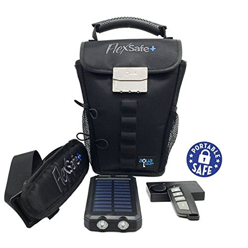 FlexSafe+ by AquaVault - The Ultimate Portable Safe - Ultra Slash Resistant, Includes Motion Alarm & Solar Charger. Tons of Features 1
