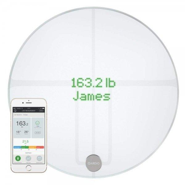QardioBase 2 Wireless Smart Scale and Body Analyzer - Arctic White 1