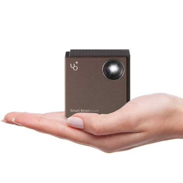 UO Smart Beam Laser, CES Awarded Portable Mini Projector, 1280x720HD, Focus Free Class 1 Laser, Wireless 2 hrs, Built in Speaker, MIRRORING Smartphone, Tablet, HDMI pc, Laptop, Video Game, Apple TV 1