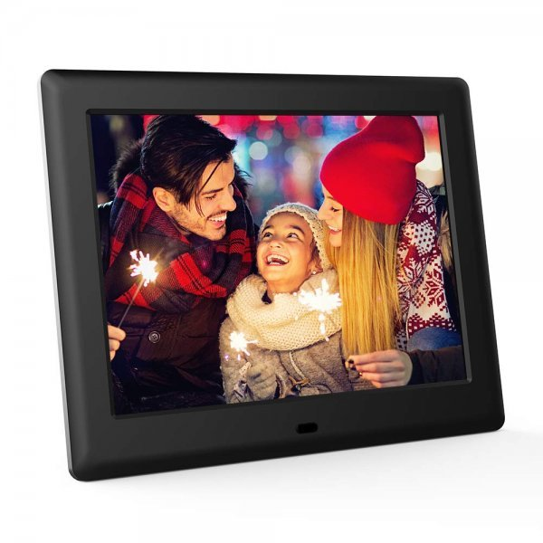 DBPOWER HD Digital Photo Frame IPS LCD Screen with Auto-Rotate/Calendar/Clock Function & Remote Control (10 inch) 1