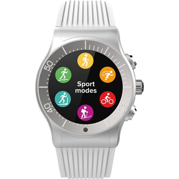 MyKronoz ZeSport - Multisport GPS, Heart Monitoring, Color Screen Smartwatch with sleek design (Silver/White) 1