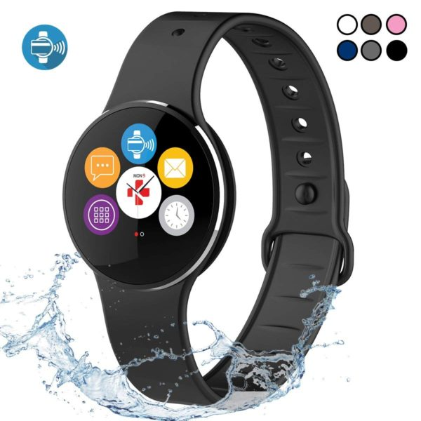 MyKronoz ZeCircle2 - Activity Tracker with Color Touchscreen, Smart Notifications and contactless Payment (Black/Black) 1