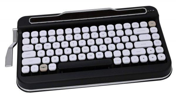 Penna Bluetooth Keyboard with White Diamond Shape Keycap(US Language) (Switch-Cherry Mx Blue, Pure White) 1
