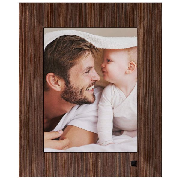 NIX Lux Digital Photo Frame 8 inch X08F, Wood. Electronic Photo Frame USB SD/SDHC. Digital Picture Frame with Motion Sensor. Control Remote and 8GB USB Stick Included 1
