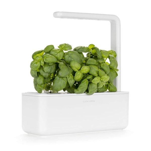 Click & Grow Smart Garden 3 Indoor Gardening Kit (Includes Basil Capsules), White 1
