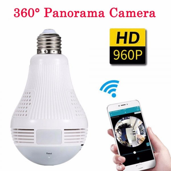 360 Degree Panorama Video Camera Wifi IP Light Bulb Surveillance Cam Recorder 1
