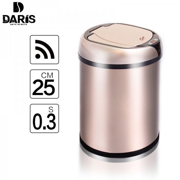 6L 8L 12L Inductive Type Smart Sensor Automatic Kitchen And Toilet Stainless Steel Rubbish Bin 1