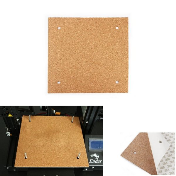 235*235*3mm Heated Bed Hotbed Thermal Heating Pad Insulation Cotton With Cork Glue For Ender-3 3D Printer Reprap Ultimaker Makerbot 1