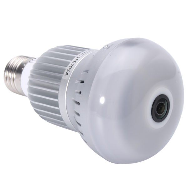 360° Wireless WiFi HD 1080P Light Bulb IP Security Camera Panoramic Motion Detect Two Way Audio 1