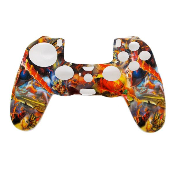 Camouflage Army Soft Silicone Gel Skin Protective Cover Case for PlayStation 4 PS4 Game Controller 1
