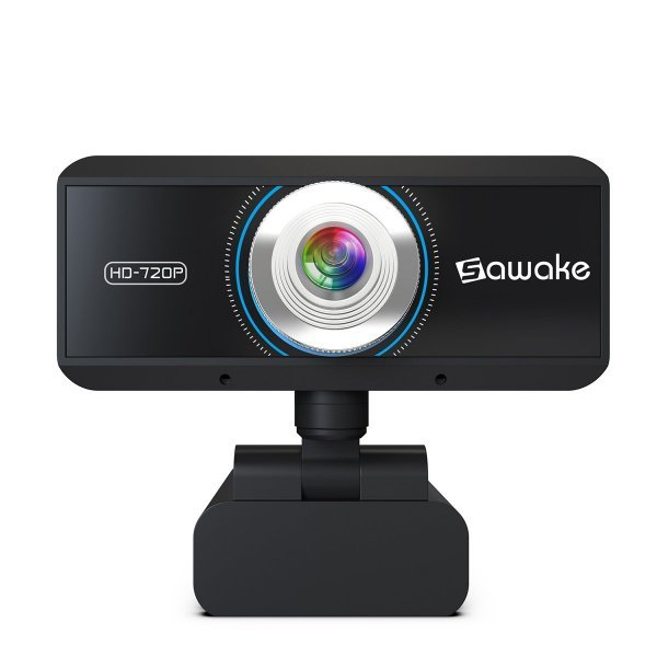 Sawake 720P HD Webcam Computer Camera with Built-in Mic 1