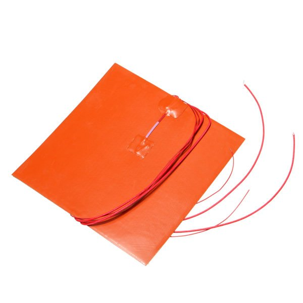 110V/220V 500W 200X200mm Thermistor Silicone Heated Bed Heating Pad for 3D Printer 1