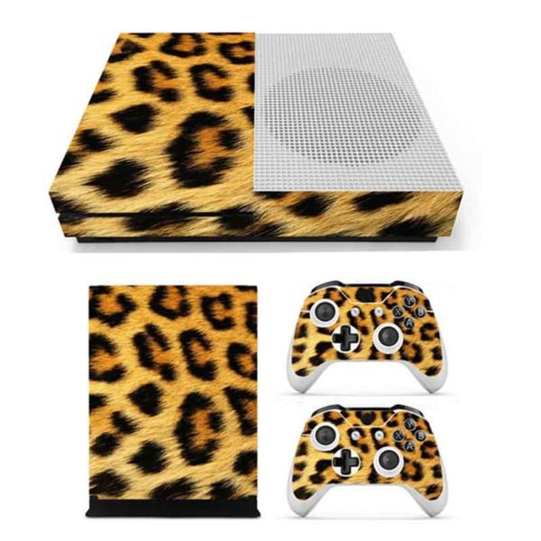 3D Leopard Host Body Paste Two Handle Paste Sticker Skin for Xbox one 1