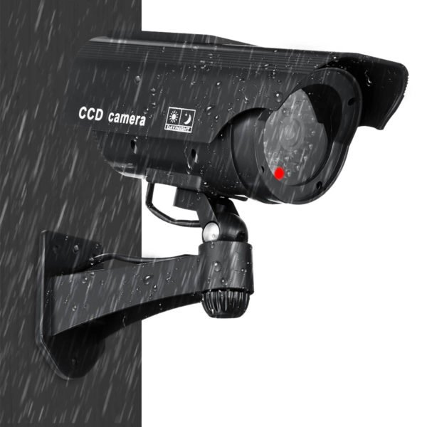Solar Power Fake Camera CCTV Realistic Flashing IR Dummy Security Camera Blinking 1