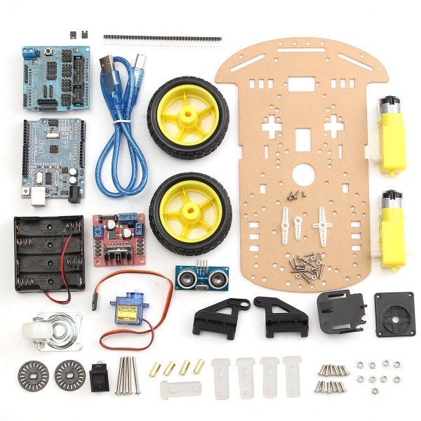 2 Wheels Ultrasonic Smart Robot Car Chassis Tracking Car Kit For Arduino 1