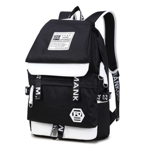 2018 Mochila Emoji Geometric Backpack Portable Backpack Laptop Bag 1