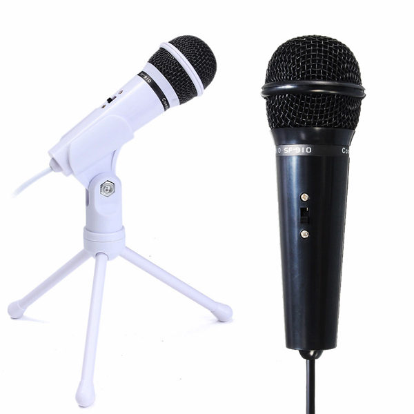 3.5mm Condenser Microphone Mic Recording Stand For PC Laptop Desktop YY Skype 1