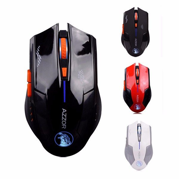 Azzor Wireless 2400DPI 2.4GHz Silence Ergonomic Laser Gaming Rechargeable Mouse 1