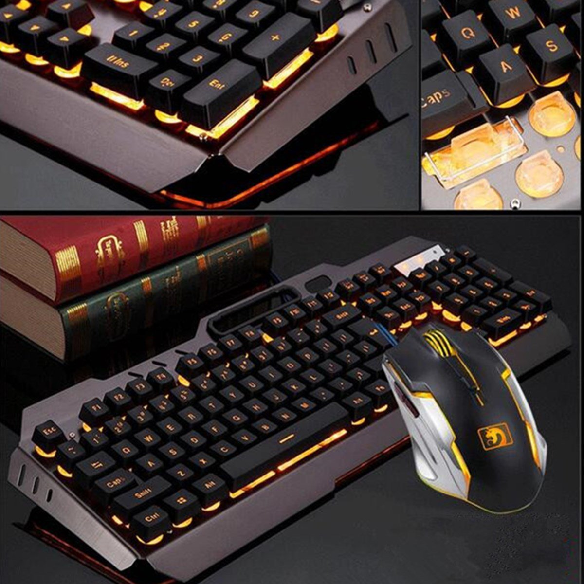104keys usb wired backlight mechanical handfeel gaming keyboard mouse and ouse pad combo set. Black Bedroom Furniture Sets. Home Design Ideas