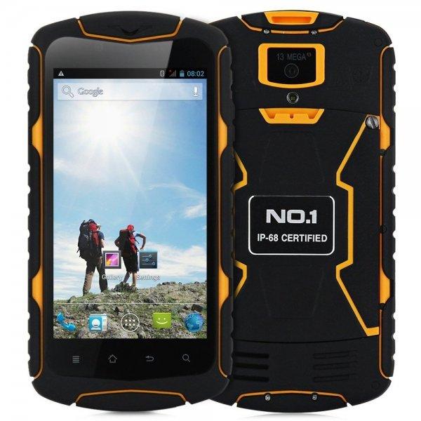 5.0 inch NO.1 X1 Android 4.4 3G Smartphone MTK6582 1.3GHz Quad Core 1GB RAM 8GB ROM IP68 Waterproof Dustproof Shockproof HD Screen 1