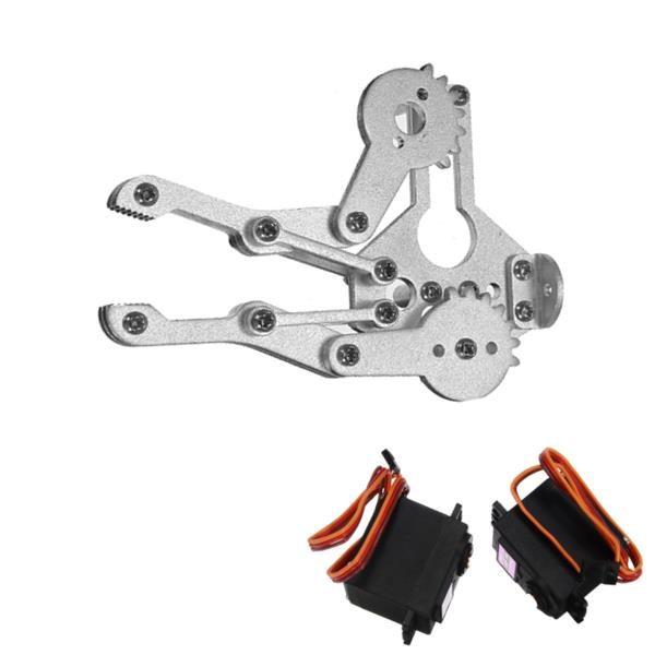 2 DOF Aluminium Robot Arm Clamp Claw Mount Kit With MG996R Servo 1