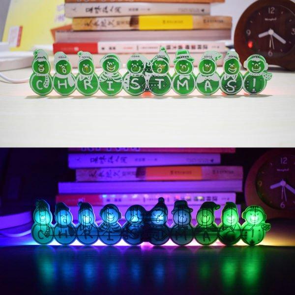 3pcs Geekcreit® DIY Full Color Christmas Snowman Music Box Kit 1