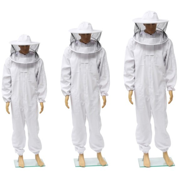 Beekeepers Bee Keeping Cotton Full Protector Suit With Veil Hat Hood Bee Suit XL XXL XXL 1