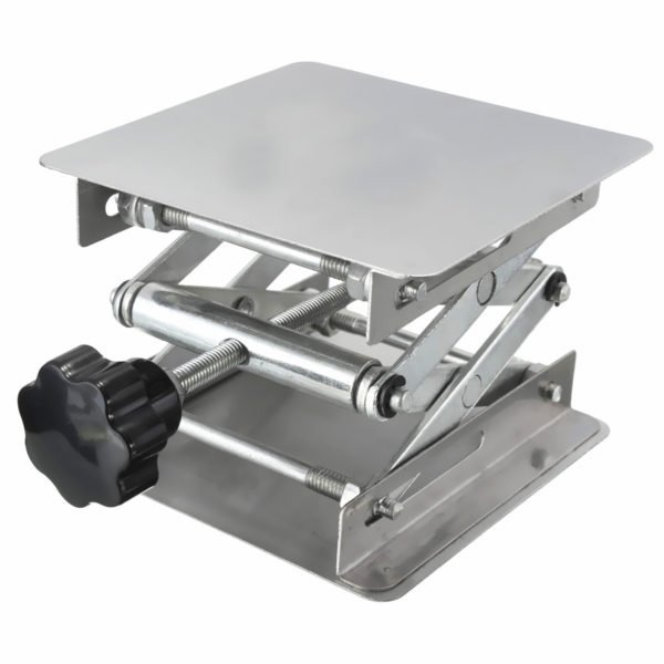 "4 x 4"" Stainless Steel Lifting Platform Lab Stand Laboratory Manual Lift Riser Lifter 100x100x150mm 1"