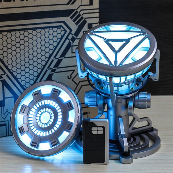 1:1 ARC REACTOR LED Chest Heart Light-up Lamp Movie ABC Props Model Kit Science Toy 1