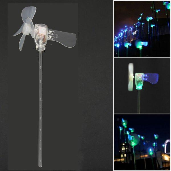 Vertical DIY Project Turbines LED Windmill Small DC Motor Wind Blades Wind Generator 1