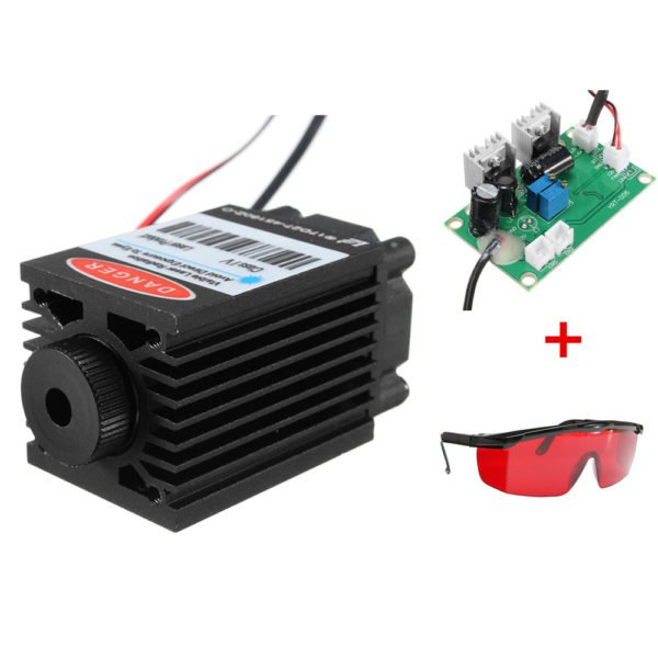 Focusable High Power 2.5W 450nm Blue Laser Module TTL 12V Carving free Goggles 1