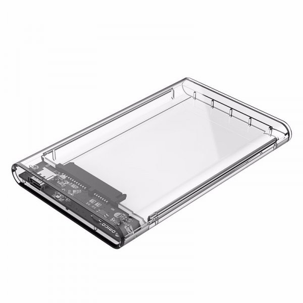 ORICO 2.5 inch Type-C to SATA3 Transparent Hard Drive Enclosure External SSD HDD Case Support UASP 1