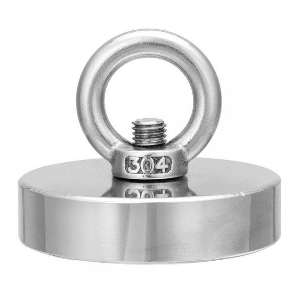 300kg D75mm Neodymium Fishing Salvage Recovery Magnet For Detecting Metal Treasure 1