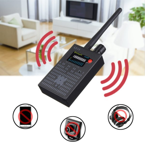 Signal Detector Anti-Spy Hidden Camera GPS RF Bug Lens Audio Tracker Finder Detector 1