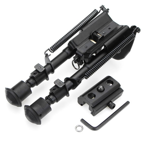 Adjustable Tactical Bipod 6-9 inches Spring Loaded Sling Swivel Notch Leg Stud Mount 1