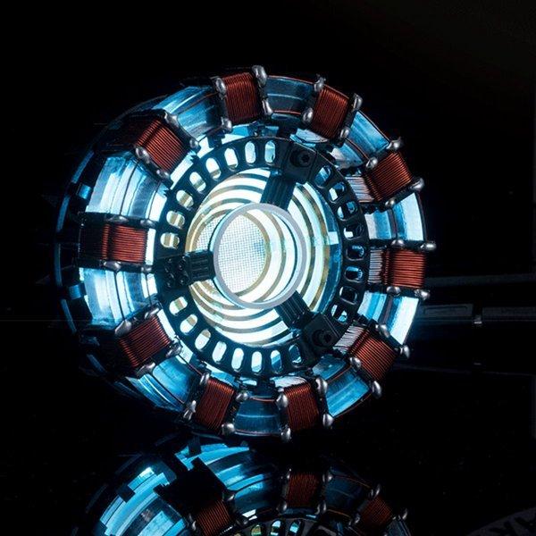 MK1 Acrylic Tony DIY Arc Reactor Lamp Arcylic Kit Illuminant LED Flash Light Set 1