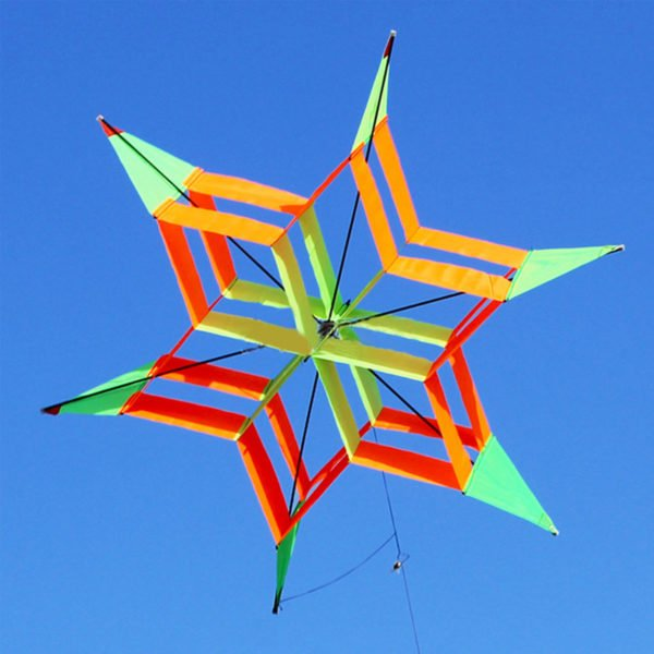 3D Colorful Flower Kite Single Line Outdoor sports Toy Light Wind Flying Kids 1