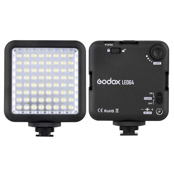 Godox LED64 LED Lamp Video Light for DSLR Camera Camcorder mini DVR Interview Macro photography 1