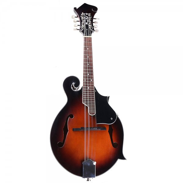 Classic Sunburst F Modle 24 Frets 8 String Paulownia Wood Mandolin With Case 1