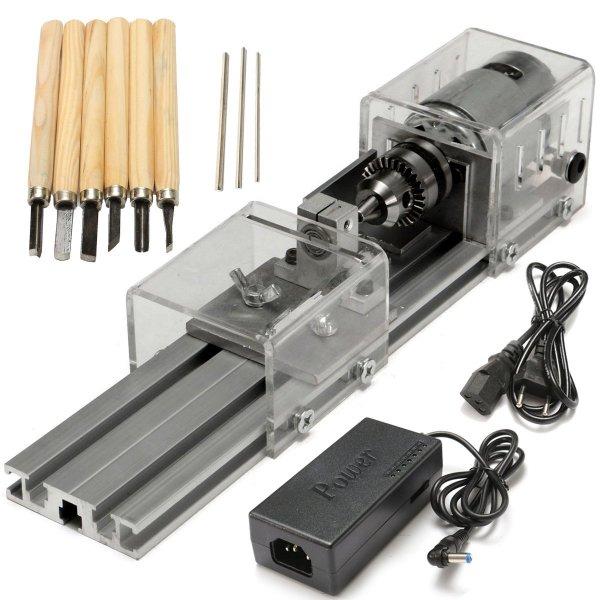 Raitool® LB-01 Mini Lathe Beads Machine Wood Working DIY Lathe Polishing Drill Rotary Tool DC 24V 1