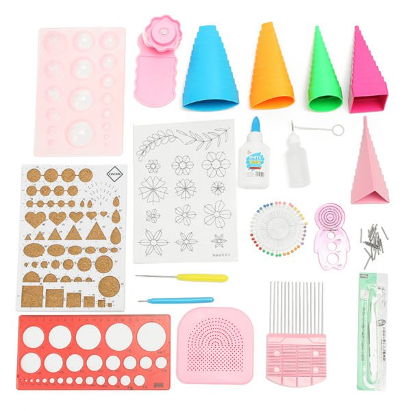 Quilling DIY Paper Art Craft Tool Full Kit Quilling Work Board Mould Grid Guide Tool 1