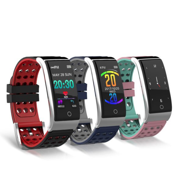 Bakeey E08 ECG EKG Blood Pressure Monitor Fitness Tracker 3D Color UI IP67 Long Standby Smart Watch 1
