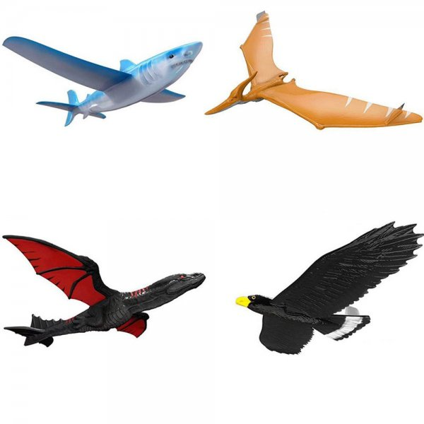 EPP Airplane 46cm Hand Launch Throwing Glider Aircraft Inertial Foam Dragon Eagle Shark Plane Toy Model 1