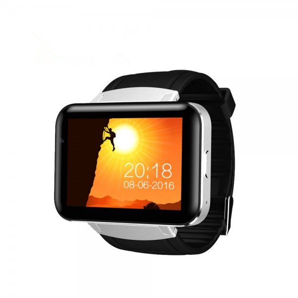 DM98 3G Smart Watch Phone - Android 4.4 MTK6572 Quad Core 1.2GHz 512MB/4GB Bluetooth WiFi GPS Google Now 900mAh B (Silver) 1
