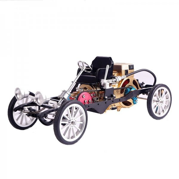 Teching Car Model Single Cylinder Engine Aluminum Alloy Model Gift Collection Toys 1