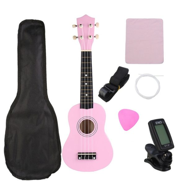 21 Inch Economic Soprano Ukulele Uke Musical Instrument With Gig bag Strings Tuner 1