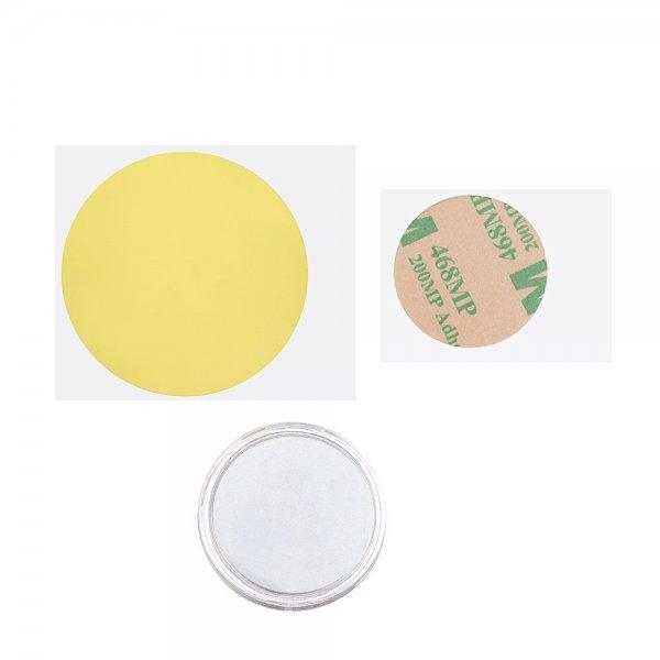 1pcs N35U Heated Bed 25*2mm Circular Magnet with Back Glue High Temperature Glue for 3D Printer 1