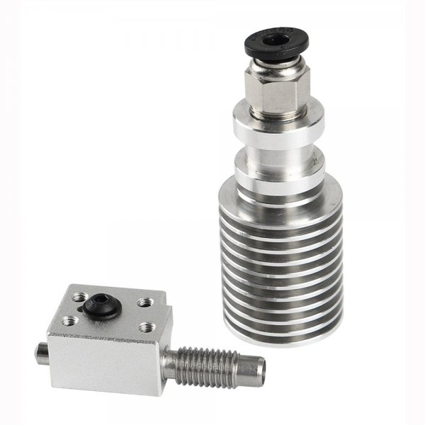 V6 Single Head Cooling 1.75mm M7 Threaded Extruder with Heating Block for 3D Printer 1