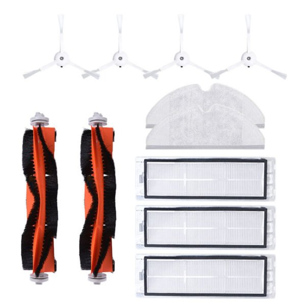 11PCS Side Brush Roller Brush HEPA Filter Mop Cloth For Xiaomi Roborock Robot Vacuum Cleaner Accessories Parts 1
